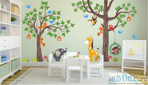 Как оформить стену фотографиями в детском саду