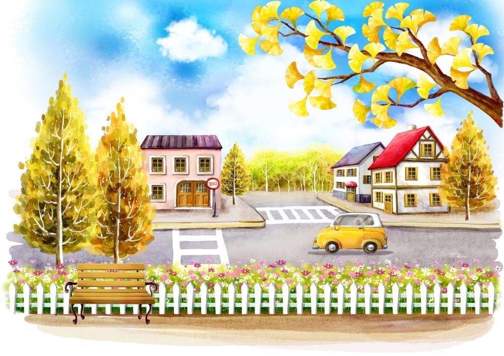 Открытку днем, картинка с изображением улицы города для детей