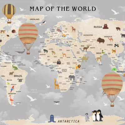 фотообои Children's world map