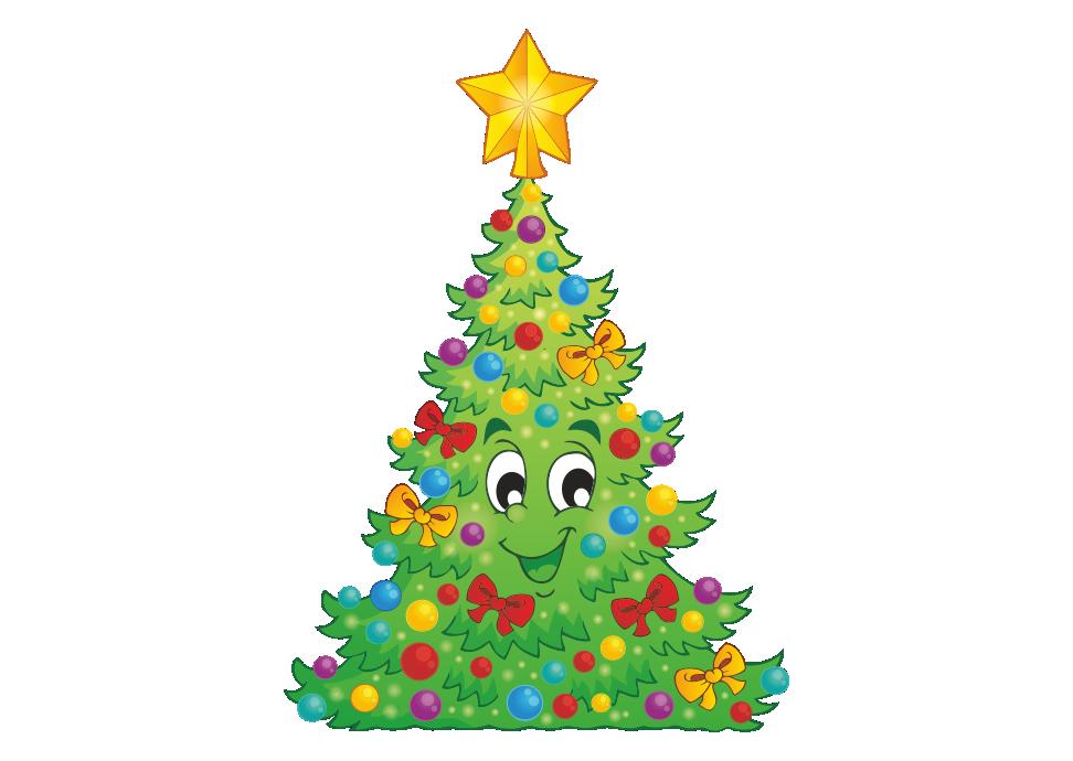 веселые новогодние картинки елки крупская была настолько